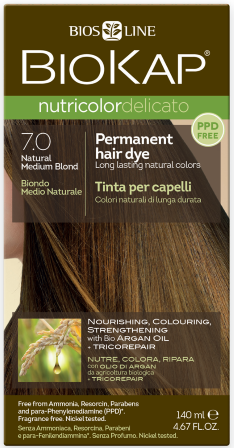 Bios Line BioKap Nutricolor Delicato Hair Dye 7.0 Natural Medium Blond -  Discount Vitamins Express 68ff69cfcaa