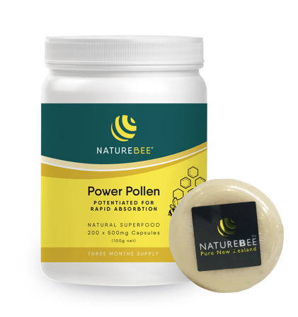 Nature Bee Power Pollen Potentiated Pollen 200 Capsules 3 Months